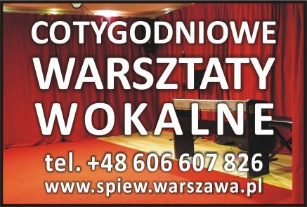 Cotygodniowe Warsztaty Wokalne w Warszawie